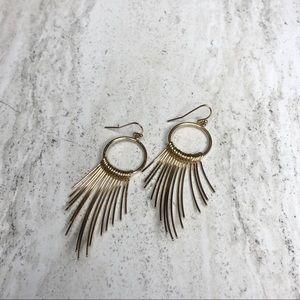 Dangle Statement Earrings Gold